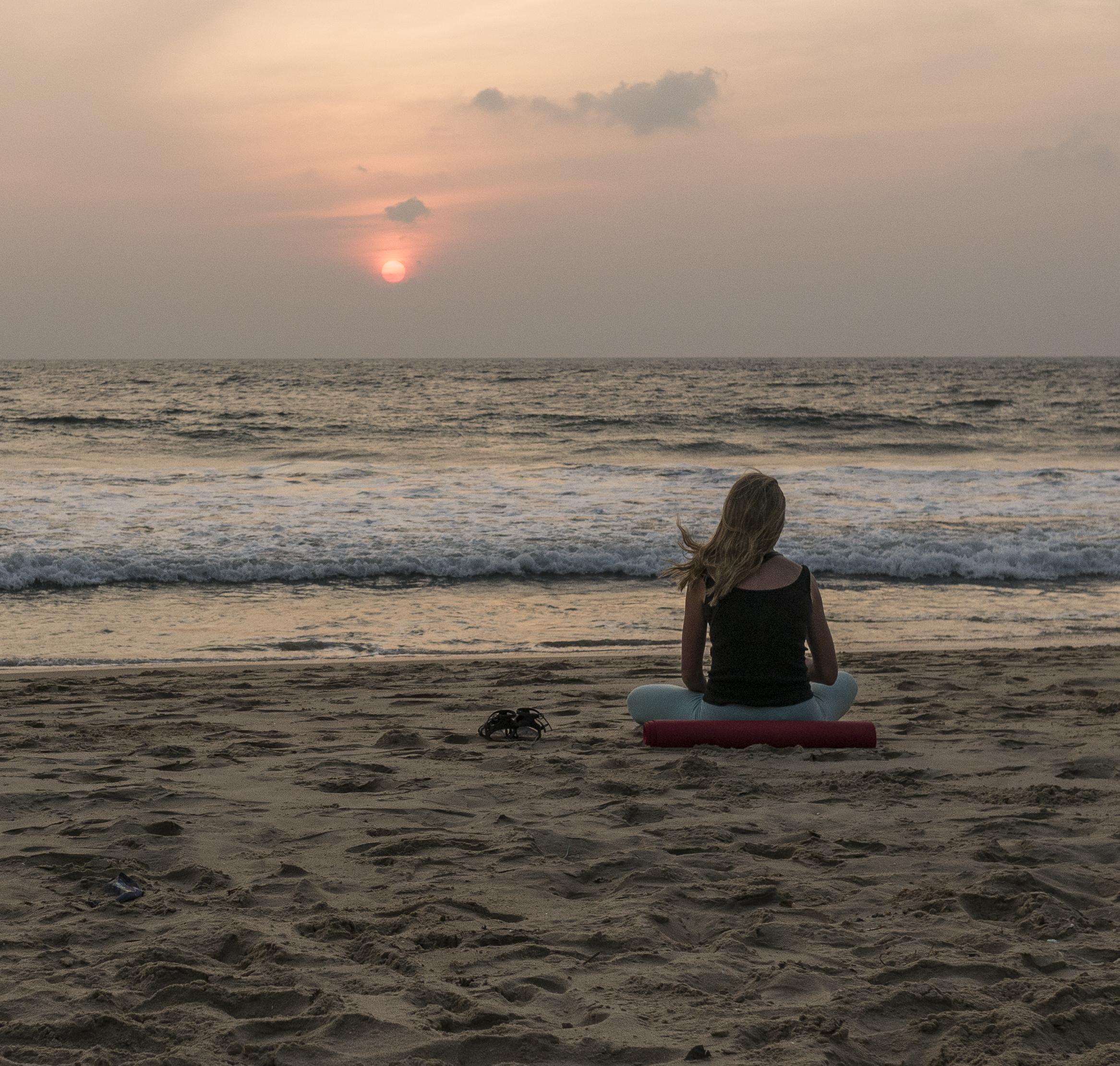 Yoga och ayurveda vid havet
